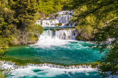 Waterfall In Krka National Park -Dalmatia, Croatia Royalty Free Stock Image