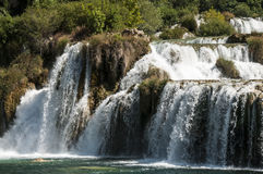 Waterfall at Krka National Park Stock Images