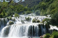 Waterfall in the Krka National Park royalty free stock image