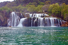 Waterfall on Krka river Royalty Free Stock Photo
