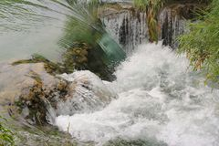 Waterfall on Krka river - close view. Small waterfall on Krka river, Croatia - close view Royalty Free Stock Image