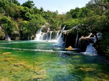 Waterfall on Krka river Croatia royalty free stock photography