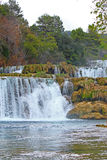 Waterfall on Krka river Royalty Free Stock Images