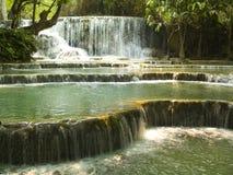 Waterfall Kuang Si Stock Photo
