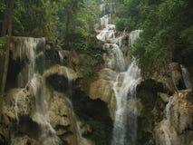 Waterfall Kuang Si Royalty Free Stock Images