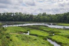 Waterfall in Kuldiga, Latvia royalty free stock photos