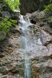 Waterfall in Kysel ravine in Slovak Paradise National park, Slovakia. Waterfall in Kysel ravine in Slovak Paradise National park in Slovakia Royalty Free Stock Image