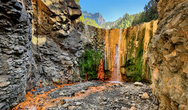 Waterfall at La Palma (Canary Islands) Stock Images