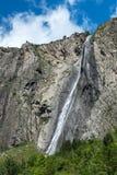 Waterfall La Pisse near Mizoen (France) Stock Photos