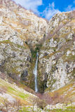 Waterfall at Lago del Matese Stock Image