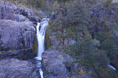 Waterfall in Laguna de Laja National Park, Chile Royalty Free Stock Images