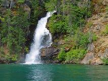 Waterfall at Lake Chelan. Waterfall emptying into Lake Chelan, Washington Stock Images