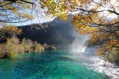 Waterfall  and lake in Jiuzhaigou Stock Images