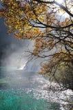 Waterfall  and lake in Jiuzhaigou Royalty Free Stock Photos