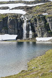 Waterfall at the Lake Stock Photography