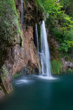 Waterfall and lake in national park Plitvice Lakes Royalty Free Stock Images