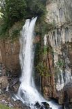 Waterfall at lake Walensee in the Swiss mountains Stock Photos