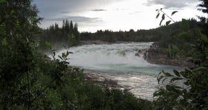 Waterfall Laksforsen Stock Image