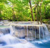 Waterfall landscape background Stock Photos