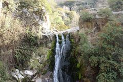 Waterfall landscape. A beautiful image from one corner of the world Royalty Free Stock Photo