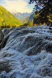 Waterfall landscape of China Jiuzhaigou Royalty Free Stock Image