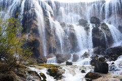 Waterfall landscape of China Jiuzhaigou Stock Images
