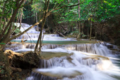 Waterfall landscape in deep forest. Of Thailand Royalty Free Stock Images