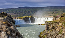 Waterfall landscape in Iceland Royalty Free Stock Images