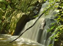 WaterFall Landscape Nature Park Water Slow Motion Blurred Background royalty free stock photos