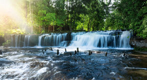 Waterfall landscape panorama Stock Photos