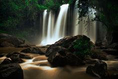 Waterfall landscape panorama. Royalty Free Stock Photo