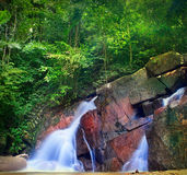 Waterfall landscape in tropical forest Royalty Free Stock Photo