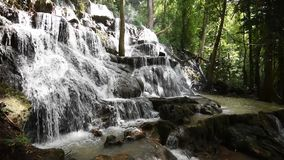 Waterfall. Landscape Tropical forest thailand Asia stock video