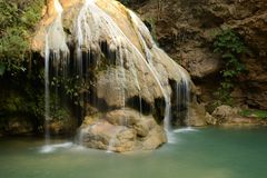 Waterfall. Lanscape of Green Natural Waterfall in Thailand Royalty Free Stock Images