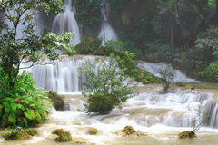 Waterfall in Laos Stock Photo