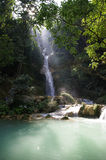 Waterfall in Laos Royalty Free Stock Image