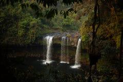Waterfall in Laos royalty free stock photos