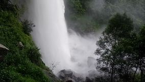 Waterfall large big Waterfall stock video