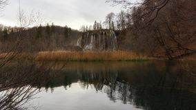 Waterfall with large rocks Royalty Free Stock Photography