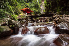 Waterfall. Lawe waterfall indonesia Stock Images