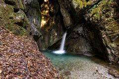 Waterfall in Ledro Stock Photo