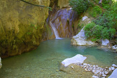 Waterfall,Lefkada,Greece Royalty Free Stock Images