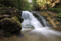 Waterfall in Lesser Fatra Royalty Free Stock Image