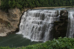 Waterfall at Letchworth State Park, NY. One of three waterfalls at Letchworth State Park, NY Royalty Free Stock Images