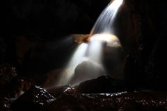 Waterfall, Light Painting Royalty Free Stock Photo