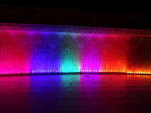 Waterfall of lights at night. Waterfall of lights in an arab-style building Royalty Free Stock Photography