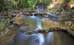 Waterfall. Limestone waterfall in Northern Thailand Stock Images