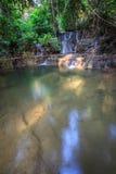 Waterfall. Limestone waterfall in Northern Thailand Stock Photo