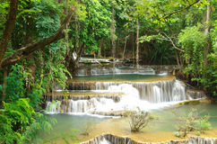 Waterfall located in deep forest of Thailand. Royalty Free Stock Image
