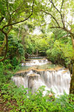 Waterfall located in deep forest of Thailand. Stock Image